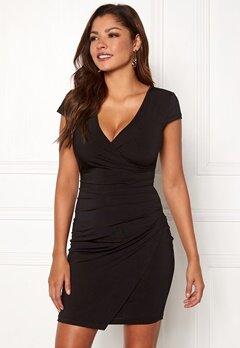 Chiara Forthi Soprano Wrap Dress Black Bubbleroom.se