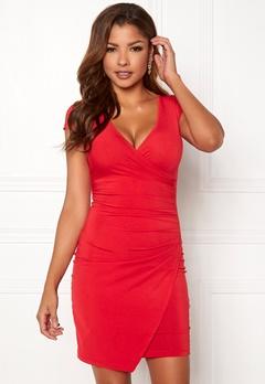 Chiara Forthi Soprano Wrap Dress Red Bubbleroom.se
