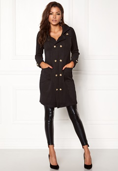 Chiara Forthi Sottovalle Jersey Coat Black Bubbleroom.no
