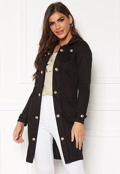 Chiara Forthi Sottovalle Jersey Coat Black Bubbleroom.se