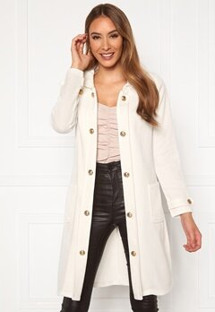 Chiara Forthi Sottovalle Jersey Coat Offwhite Bubbleroom.se