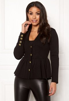 Chiara Forthi Stefania Knit Jacket Black Bubbleroom.se