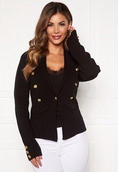 Chiara Forthi Stella heavy knit blazer Black Bubbleroom.se