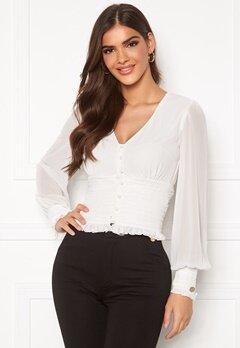 Chiara Forthi Sue ruffle blouse Cream Bubbleroom.se