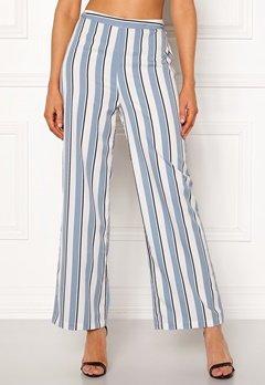 Chiara Forthi Suzette Straight Pants Striped / Offwhite / Blue Bubbleroom.se