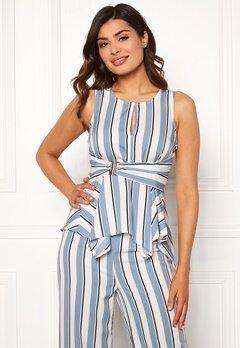 Chiara Forthi Suzette Wrap Top Striped / Offwhite / Blue Bubbleroom.se