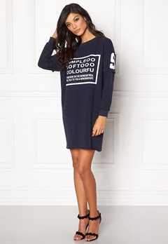 Chiara Forthi Sweatshirt Dress Midnight blue Bubbleroom.eu