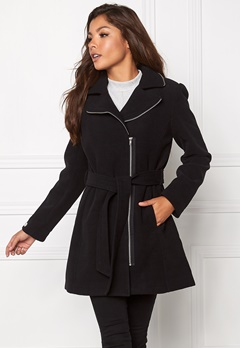 Chiara Forthi Tailored Zip Coat Black / Silver Bubbleroom.se