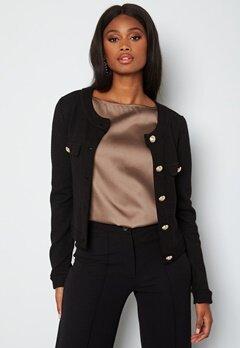 Chiara Forthi Teresina short button jacket Black bubbleroom.se