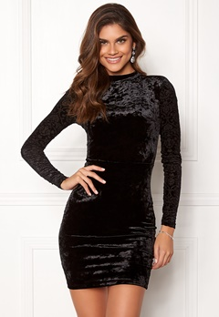 Chiara Forthi Theresa velvet dress Black Bubbleroom.se