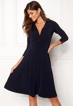 Chiara Forthi Tiamii Jersey Dress Dark blue Bubbleroom.se c972fc6edae67