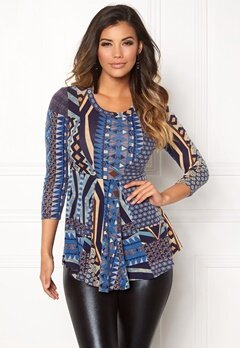 Chiara Forthi Tornabuoni Top Blue / Patterned Bubbleroom.se