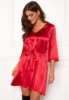 Chiara Forthi Turin tie belt dress Red Bubbleroom.se