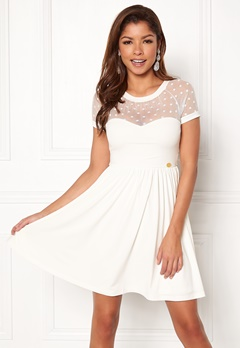 Chiara Forthi Valentina dress Offwhite Bubbleroom.dk