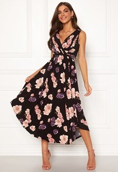 Chiara Forthi Valeria Dress Black / Floral Bubbleroom.se