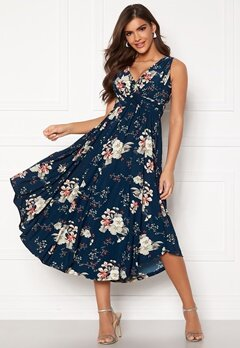 Chiara Forthi Valeria Dress Navy / Floral Bubbleroom.se