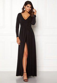 Chiara Forthi Vanessa L/S Gown Black Bubbleroom.se