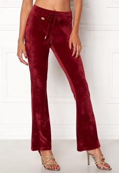 Chiara Forthi Velluto Bootcut pantaloni Bordeaux Bubbleroom.se