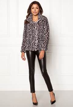 Chiara Forthi Venezia Faux Fur Jacket Leopard Bubbleroom.se