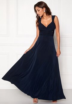 Chiara Forthi Verity Maxi Dress Dark blue Bubbleroom.eu