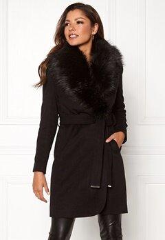 Chiara Forthi Verona Coat Black Bubbleroom.se