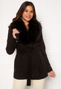 Chiara Forthi Verona Short Coat Black Bubbleroom.se