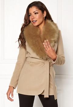 Chiara Forthi Verona Short Coat Camel Bubbleroom.se