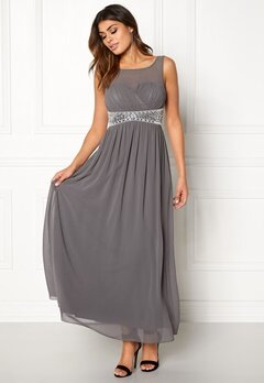 Chiara Forthi Vertigo Embellished Dress Dark grey Bubbleroom.se