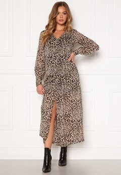 Chiara Forthi Virginia chiffon dress Leopard Bubbleroom.se