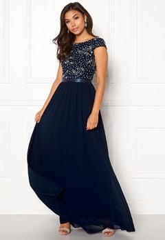 Chiara Forthi Viviere Sparkling Gown Midnight blue Bubbleroom.se 9b2293ea0deed