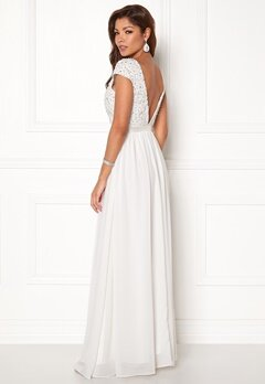 Chiara Forthi Viviere Sparkling Gown Offwhite Bubbleroom.dk
