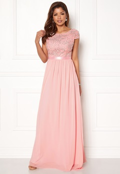 Chiara Forthi Viviere Sparkling Gown Pink Bubbleroom.se