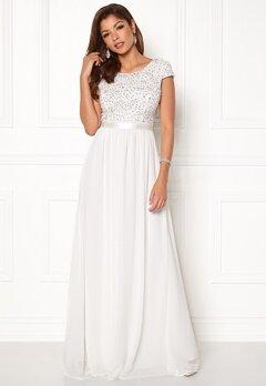Chiara Forthi Viviere Sparkling Gown White Bubbleroom.se