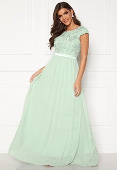 Chiara Forthi Viviere Sparkling Gown Light green Bubbleroom.se