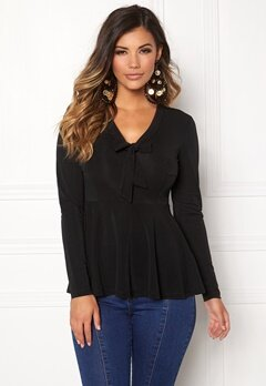 Chiara Forthi Vyver Lux Blouse Black Bubbleroom.no