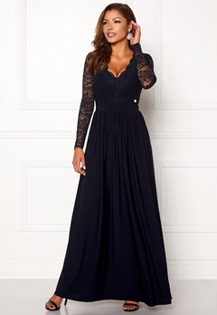 Chiara Forthi Wendolyn gown Dark blue Bubbleroom.se
