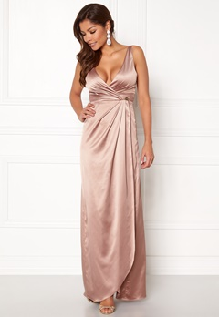 Chiara Forthi Ysabel Satin Gown Heather pink Bubbleroom.se