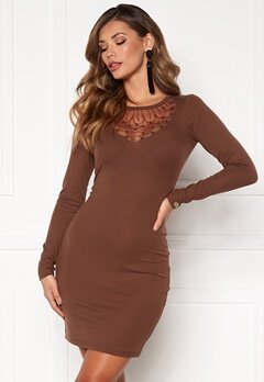 Chiara Forthi Irina rib dress Brown Bubbleroom.se