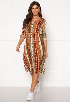 Chiara Forthi Pauline shirt dress Orange / Brown / Black Bubbleroom.se