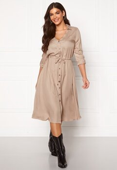 Chiara Forthi Pauline shirt dress Beige Bubbleroom.se