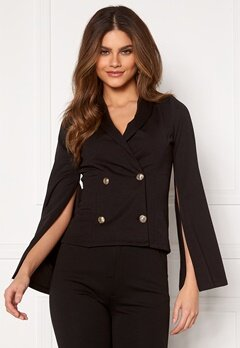 Chiara Forthi Hailey Cape Blazer Black Bubbleroom.se