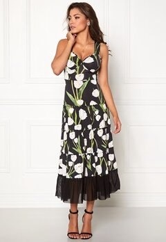 Chiara Forthi Alberta Tulip Dress Black / Floral Bubbleroom.se