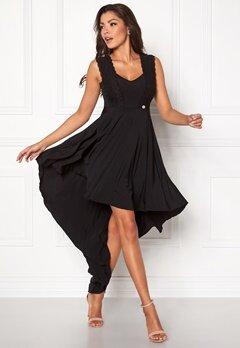 Chiara Forthi Maline Highlow Dress Klänning Svart Bubbleroom.se
