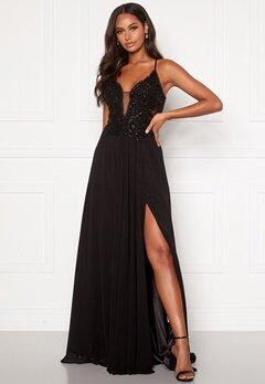 Christian Koehlert Embellished Prom Dress Phantom Black Bubbleroom.se