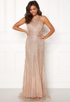 Christian Koehlert Glamorous Rhinestone Dress Night Beige Bubbleroom.se