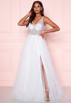 Christian Koehlert Sparkling Tulle Wedding Dress Snow White Bubbleroom.se