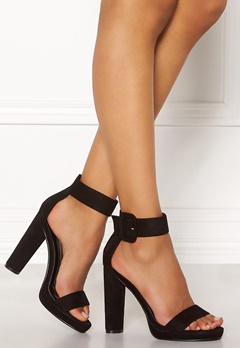 AX Paris Chunky Heel Sandals Black Suede Bubbleroom.se