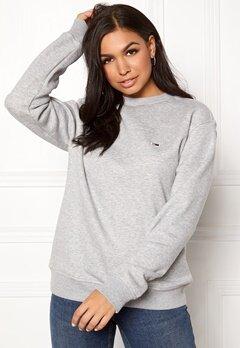TOMMY JEANS Classics Sweatshirts 038 LT Grey Bubbleroom.se