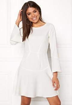 Closet London Fit Flare Frill Dress White Bubbleroom.se