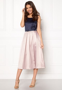 Closet London Midi Dress With Belt Navy/blush Bubbleroom.se